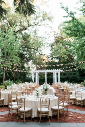 Mansion Courtyard Wedding Reception