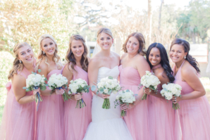 Pink Jenny Yoo Bridesmaids Dresses