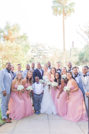 Pink and Blue Bridal Party