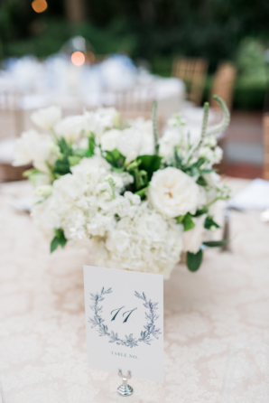 Pretty Navy Table Numbers