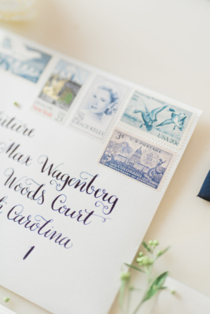 Vintage Stamps and Calligraphy