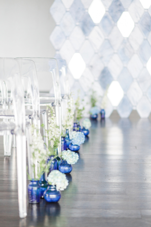 Wedding Ceremony with Blue Accents
