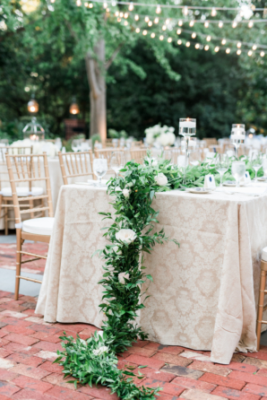 Wedding Table with Garland