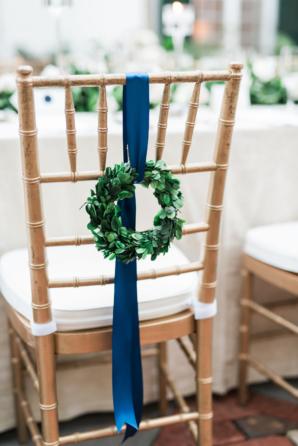 Wreaths on Wedding Chair