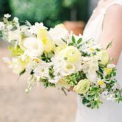 Asymmetrical White and Yellow Bouquet