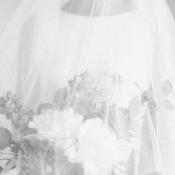 Black and White Bridal Portrait Sara Lynn