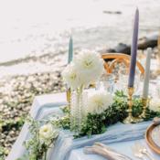 Blue White Green Beach Wedding Ideas