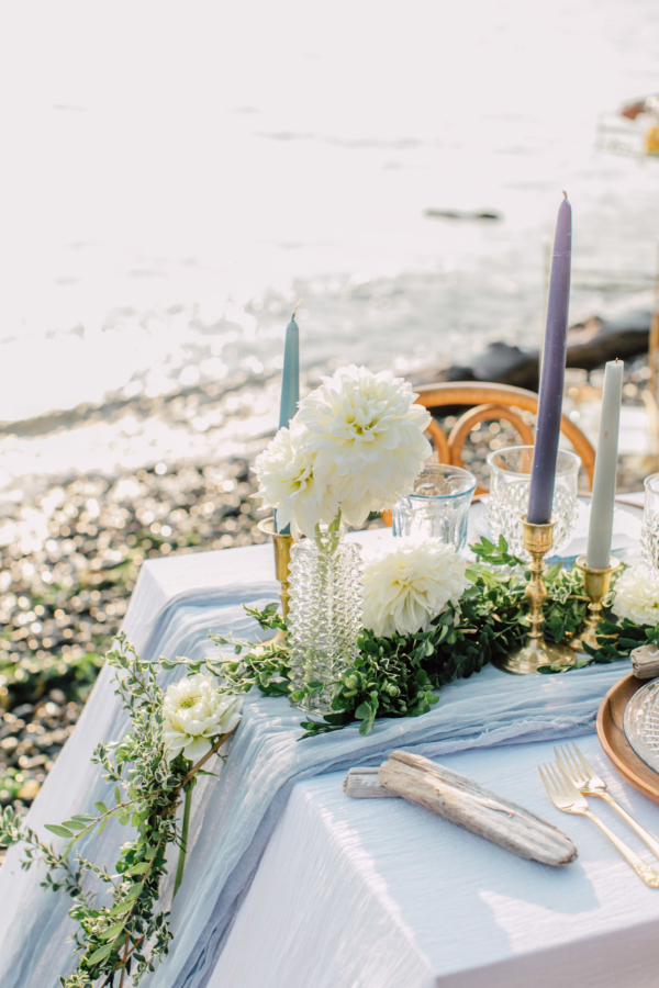 Blue White Green Beach Wedding Ideas