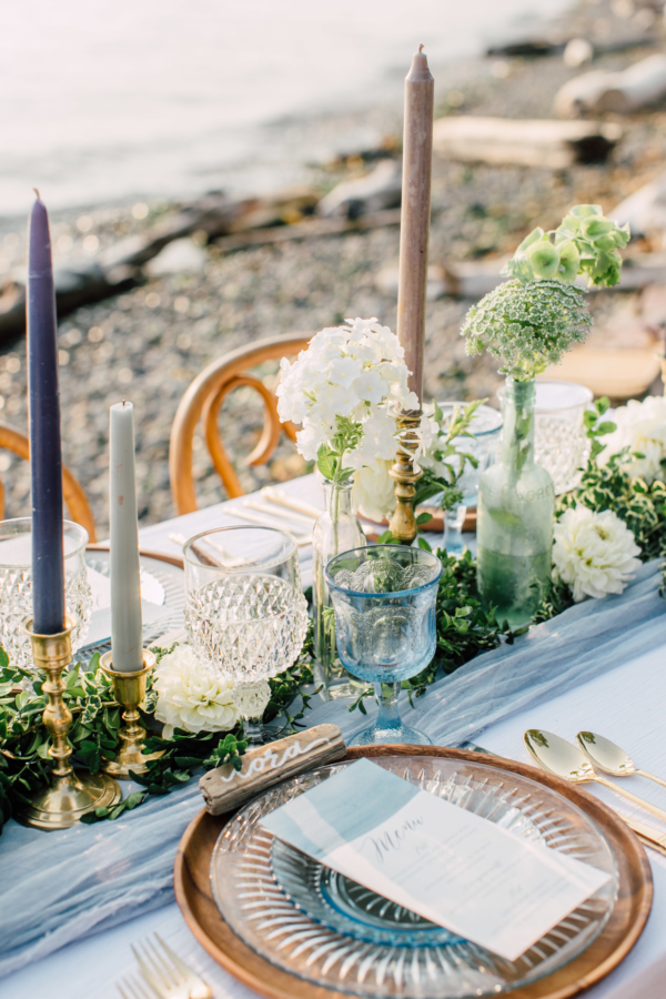 Blue and Copper Beach Wedding Ideas