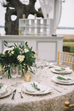 Blush and Champagne Wedding Table