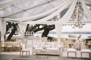Blush and Gold Wedding Tent