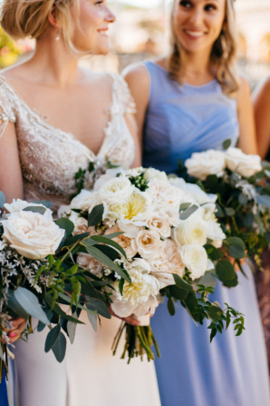 Blush and Ivory Bouquets