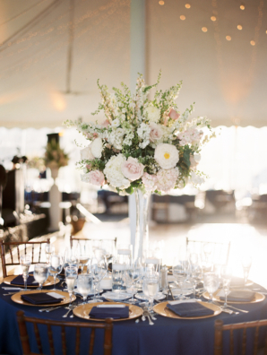 Blush and White Tall Centerpiece