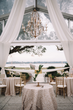 Blush and White Tented Wedding