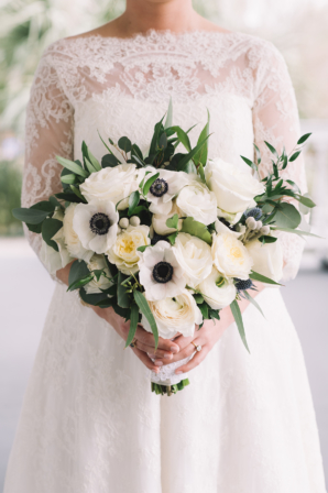 Bouquet of Anemones and Rose