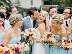 Bridal Party in Light Blue