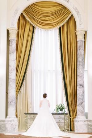 Bride By Dramatic Window