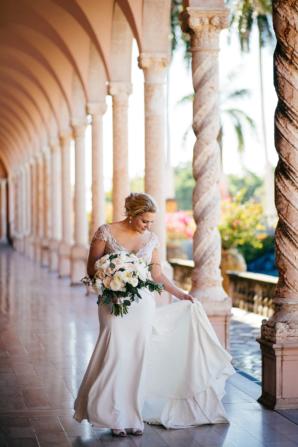 Bride in Alon Livne White Dress