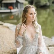 Bride in Hayley Paige Alexis June Weddings 10