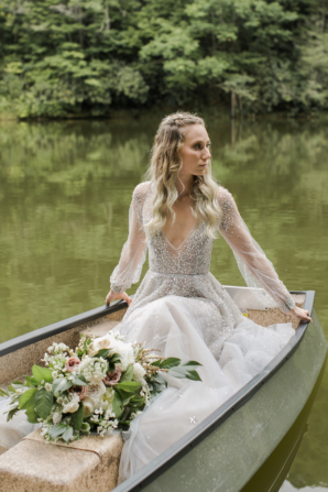 Bride in Hayley Paige Alexis June Weddings 14