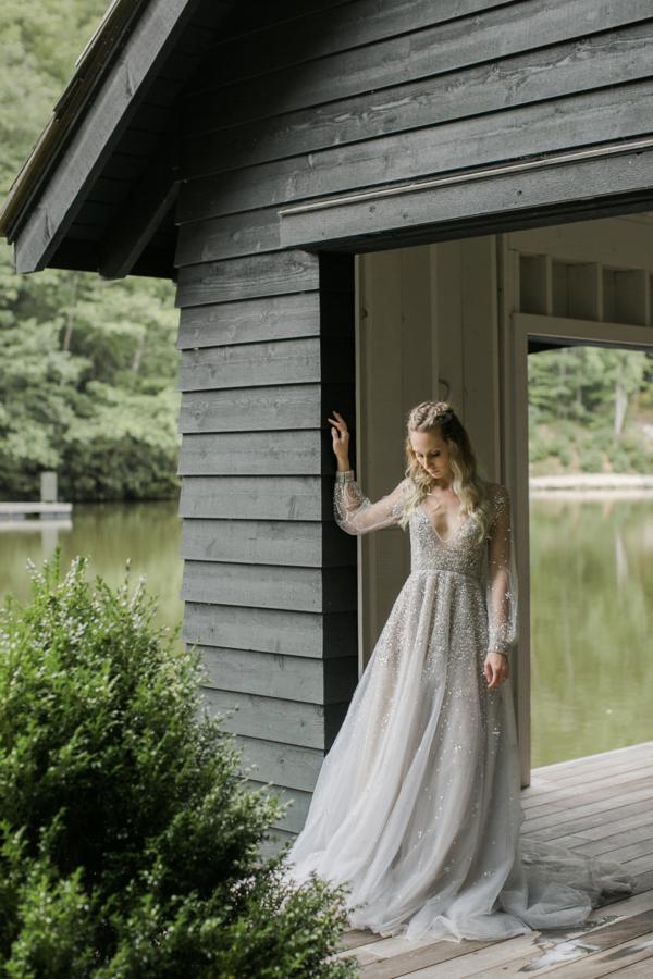 Bride in Hayley Paige Alexis June Weddings 16
