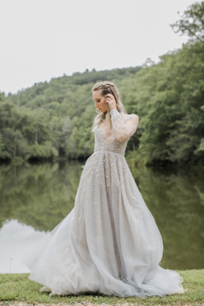 Bride in Hayley Paige Alexis June Weddings 18