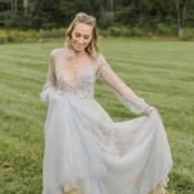 Bride in Hayley Paige Alexis June Weddings 3