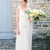 Bride in Sienna Von Hildemar Gown