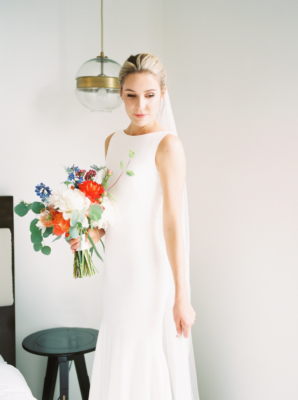Bride in Theia Couture