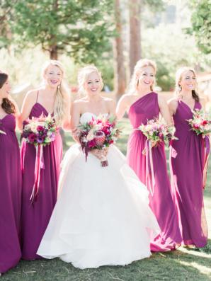 Bridesmaids in Magenta