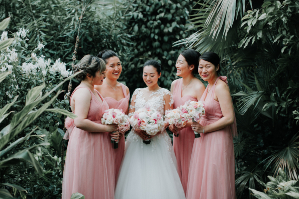 Bridesmaids in Pink Jenny Yoo Annabelle