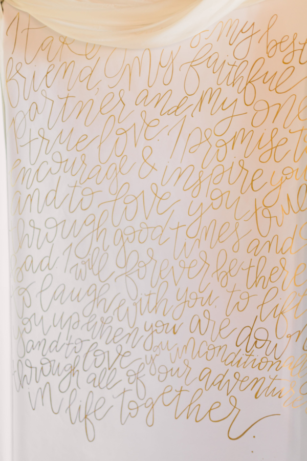 Calligraphy Wedding Ceremony Backdrop