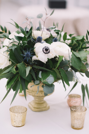 Centerpiece with Thistle and Anemone