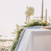 Coastal Greenery Wedding Table
