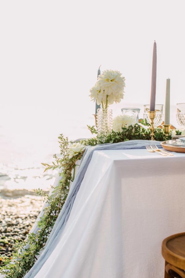 Coastal Greenery Wedding Table