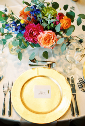 Colorful Bright Wedding Centerpiece