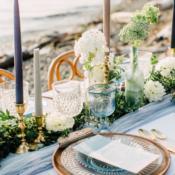 Copper and Blue Beach Wedding Ideas