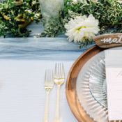 Copper and Blue Wedding Inspiration