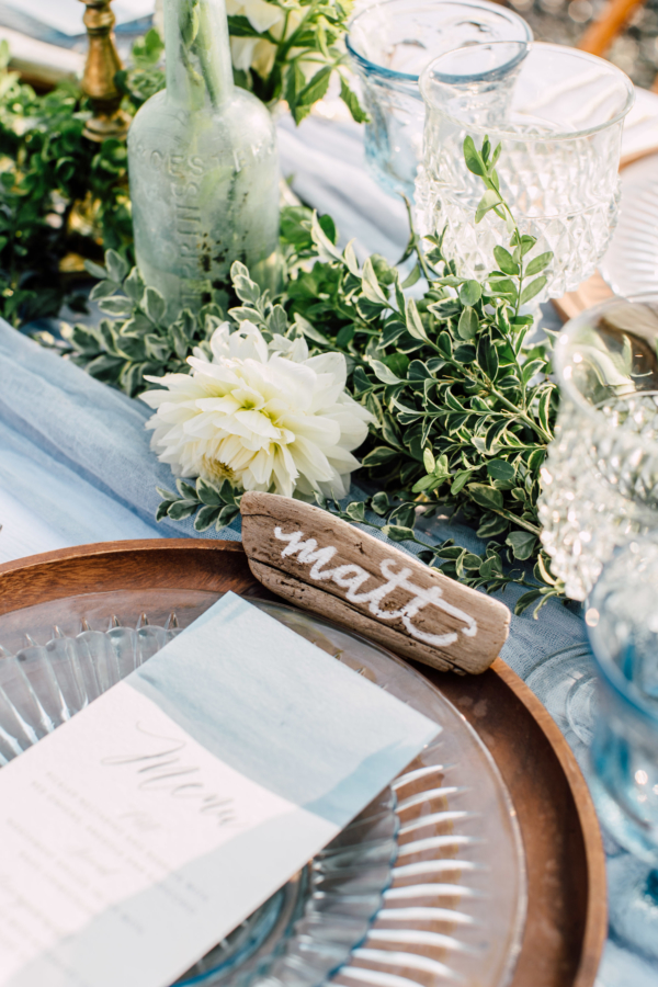 Driftwood Place Card