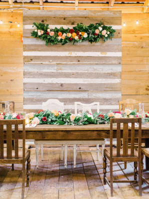 Elegant Barn Wedding in Fall