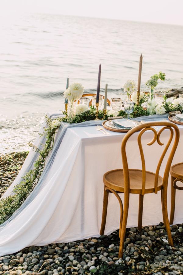 Elegant Beach Wedding Table