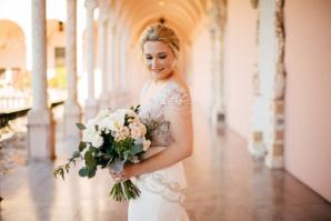 Glamorous Beaded Wedding Dress