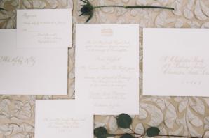 Gold Ink Wedding Invitations
