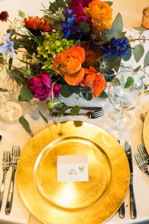 Gold Orange and Blue Wedding Colors