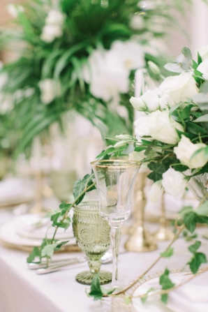 Gold White and Green Wedding Ideas
