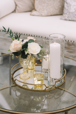Gold and Blush Wedding Lounge
