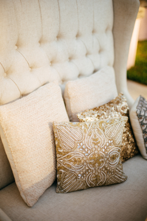 Gold and Ivory Lounge Area for Wedding