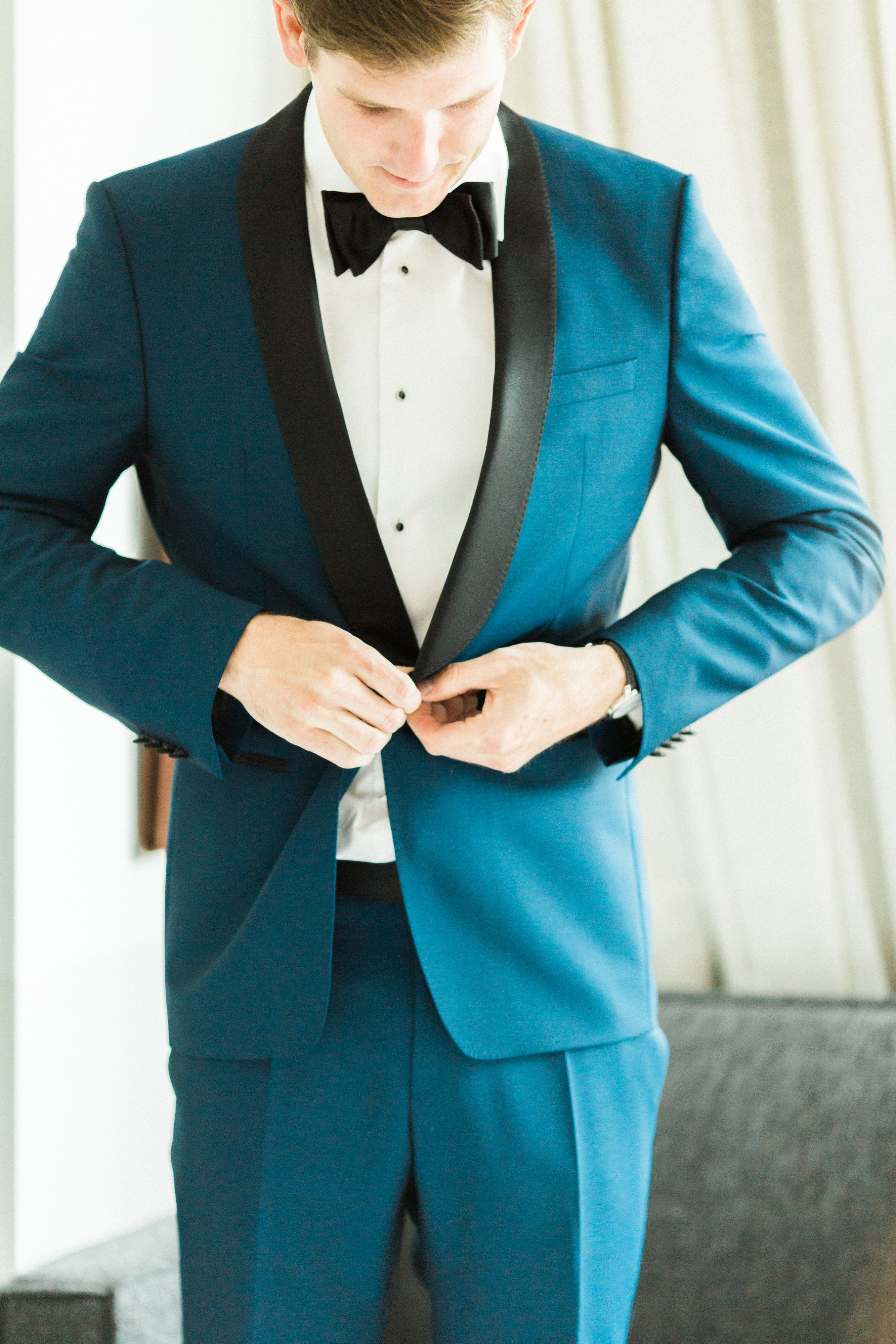 Groom in Hugo Boss Suit - Elizabeth Anne Designs: The Wedding Blog