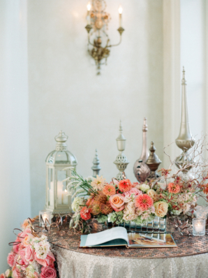 Guest Book Table with Elegant Decor