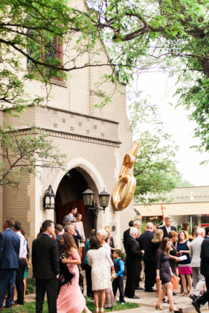 Guests Outside Wedding Church